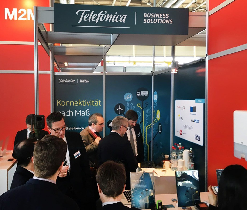 iot connect auf der cebit 2016 m2m telef nica. Black Bedroom Furniture Sets. Home Design Ideas